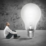 Concept of new idea of a businessman